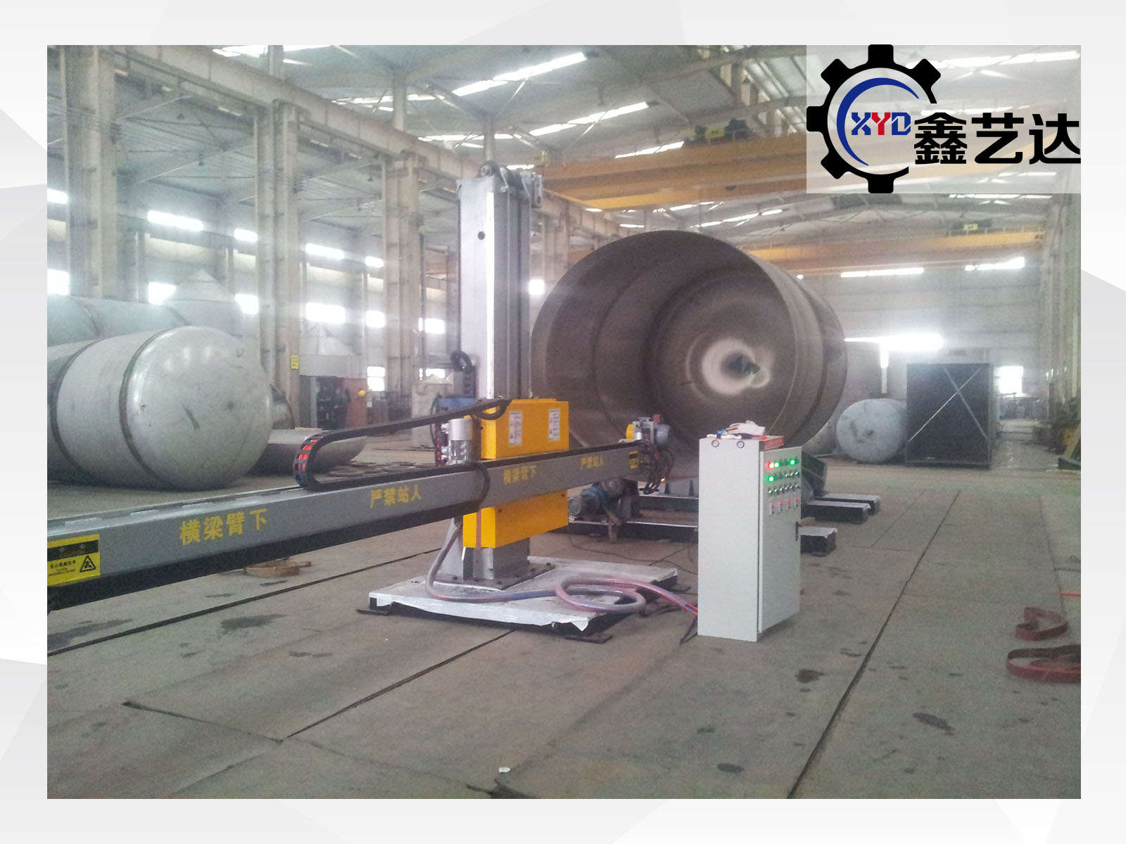 Stainless steel tank buffing machine