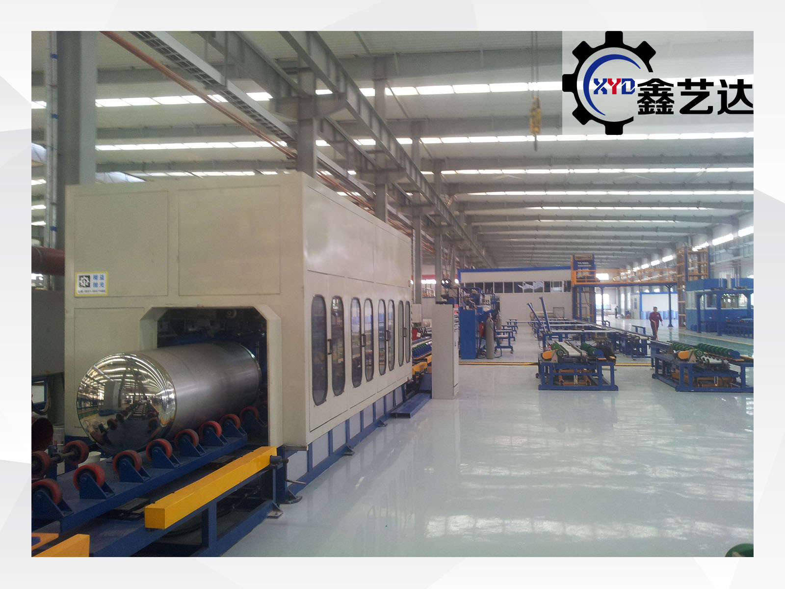 LNG cylinder polishing machine successfully shipped