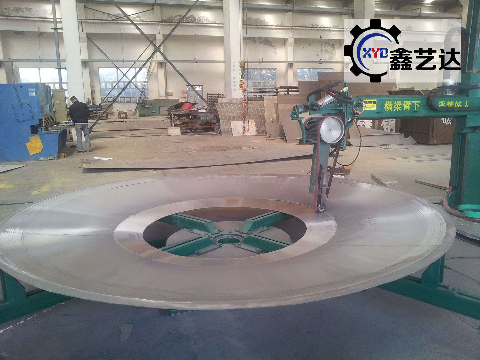 Flat disc polishing